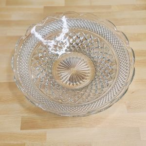 Other - Cut glass scalloped bowl